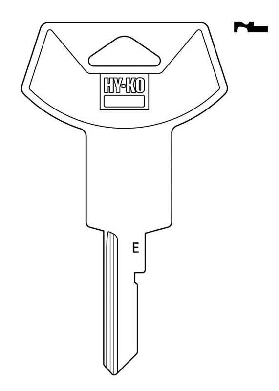Hy-Ko  Automotive  Key Blank  EZ# B78  Single sided