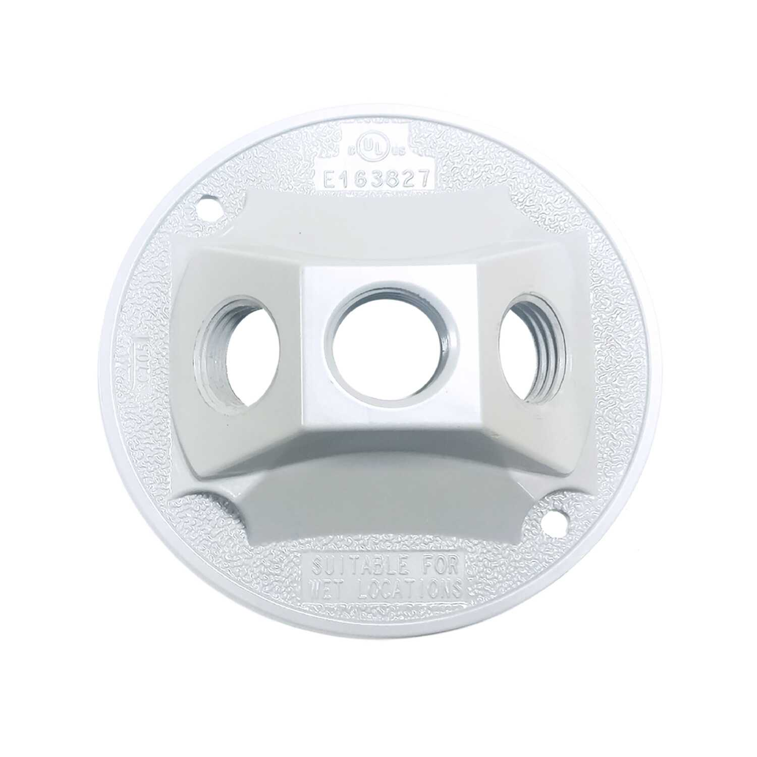 Sigma  Round  Aluminum  Electrical Cover  For Light Fixtures