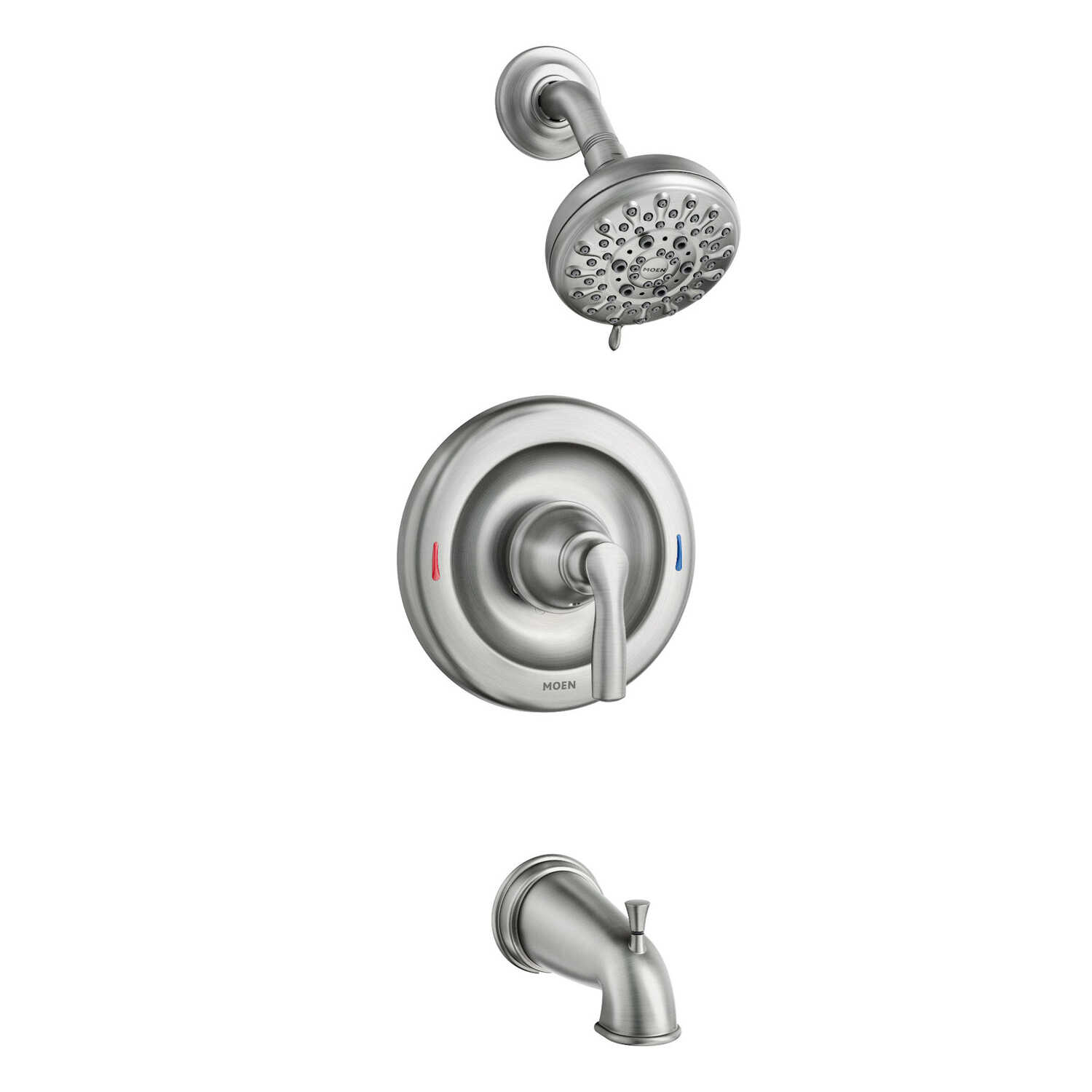 Moen  Hilliard  1-Handle  Brushed Nickel  Tub and Shower Faucet