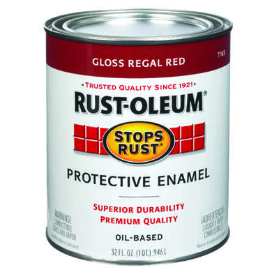 Rust-Oleum  Stops Rust  Indoor and Outdoor  Gloss  Regal Red  Oil-Based  Protective Paint  1 qt.
