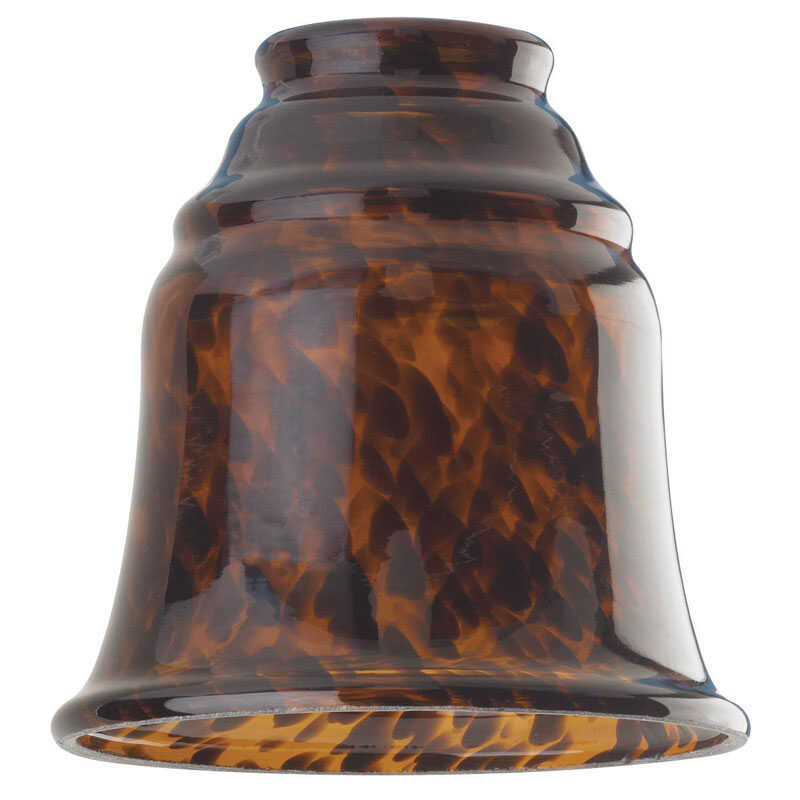 Westinghouse  Bell  Brown  Glass  Fan/Fixture Shade  1 pk