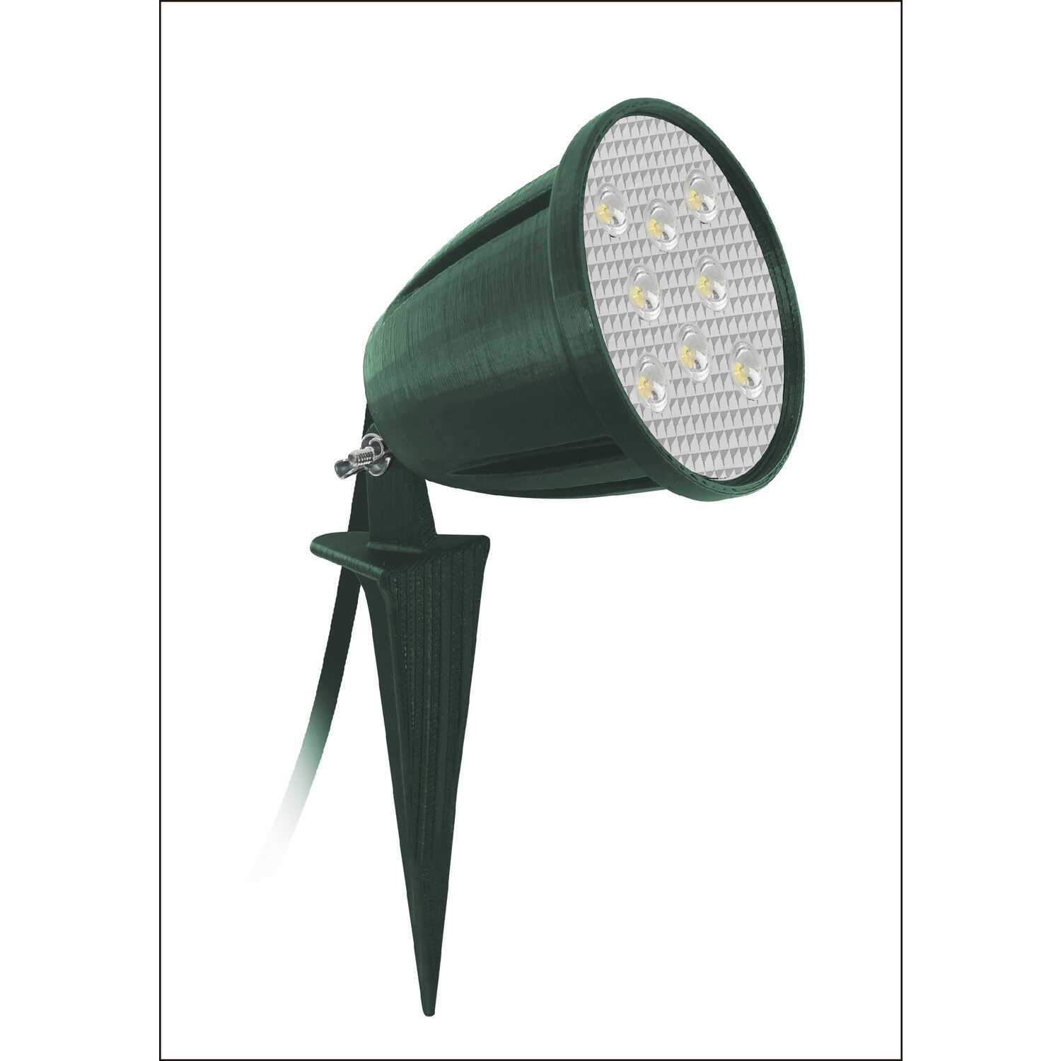 Ace  Green  Plug In  5.5 watts Spike Light  1 pk LED