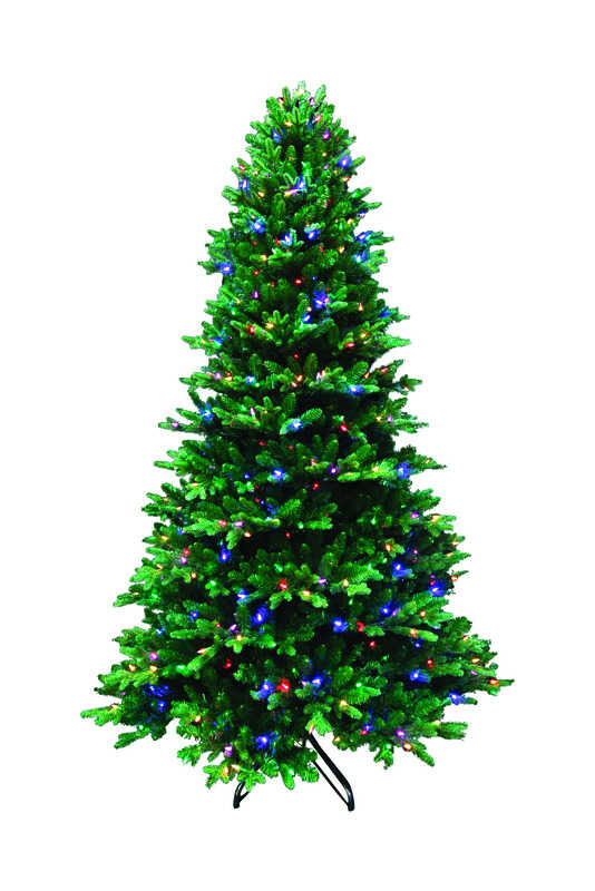 Santa's Best  Color Changing  Prelit 7-1/2 ft. Fir  Artificial Tree  600 lights 3,214 tips