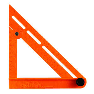 Swanson  Speed Bevel  7.125 in. L x 1.25 in. H ABS Plastic  Speed Square  Orange  Adjustable