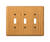 Amerelle  Contemporary  Brown  3 gang Wood  Toggle  Wall Plate  1 pk