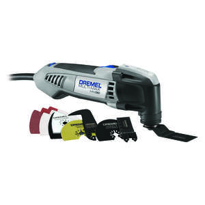 Dremel  Multi-Max  3.3 amps 120 volt Corded  120 volt Gray  23000 opm Kit 12 pc. Oscillating Tool