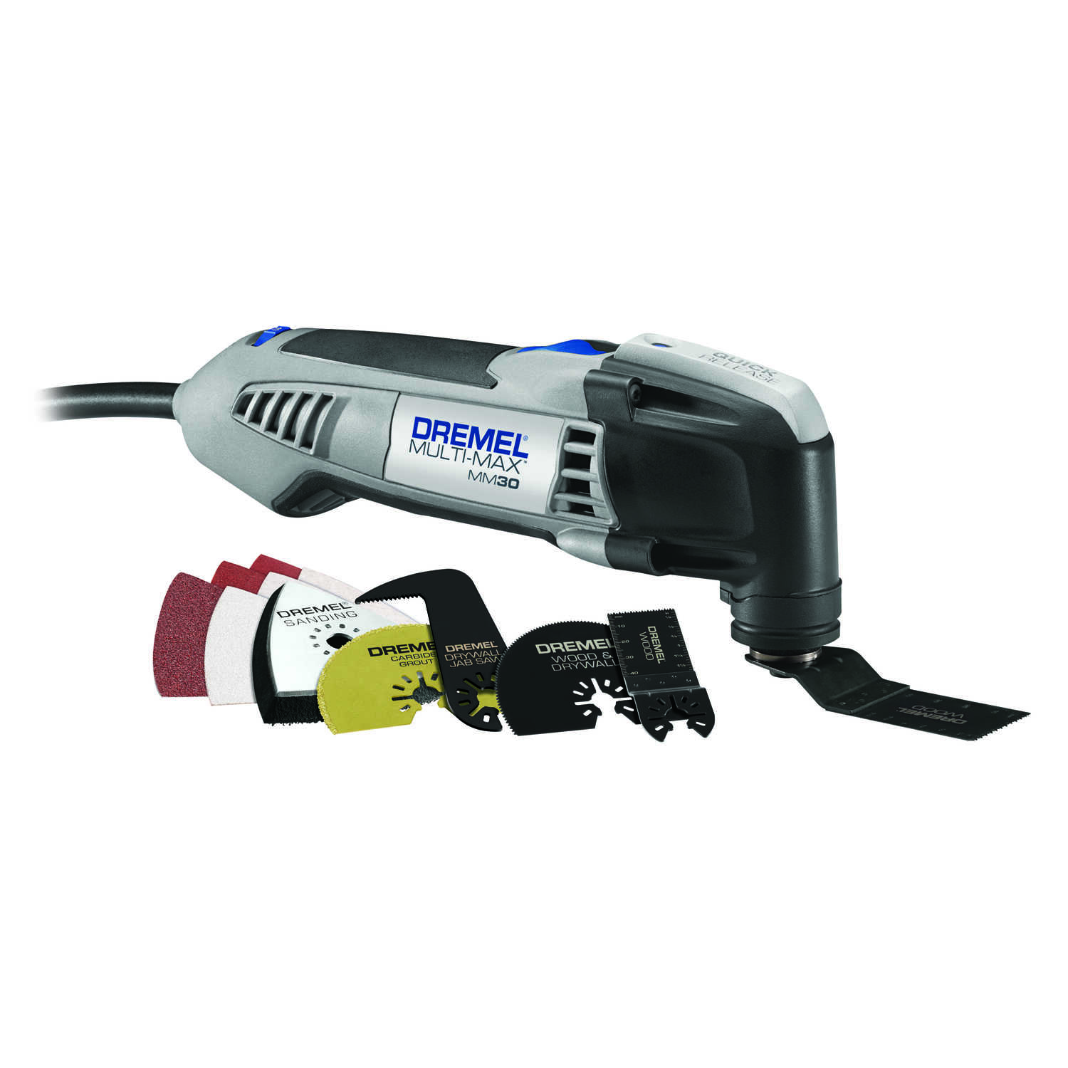 Dremel  Multi-Max  3.3 amps 120 volt Corded  Oscillating Tool  Kit 23000 opm Gray  12 pc.