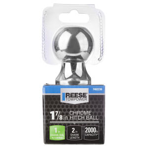 Reese  Towpower  Chrome Plated Steel  Standard  1-7/8 in. 2 in. Trailer Hitch Ball