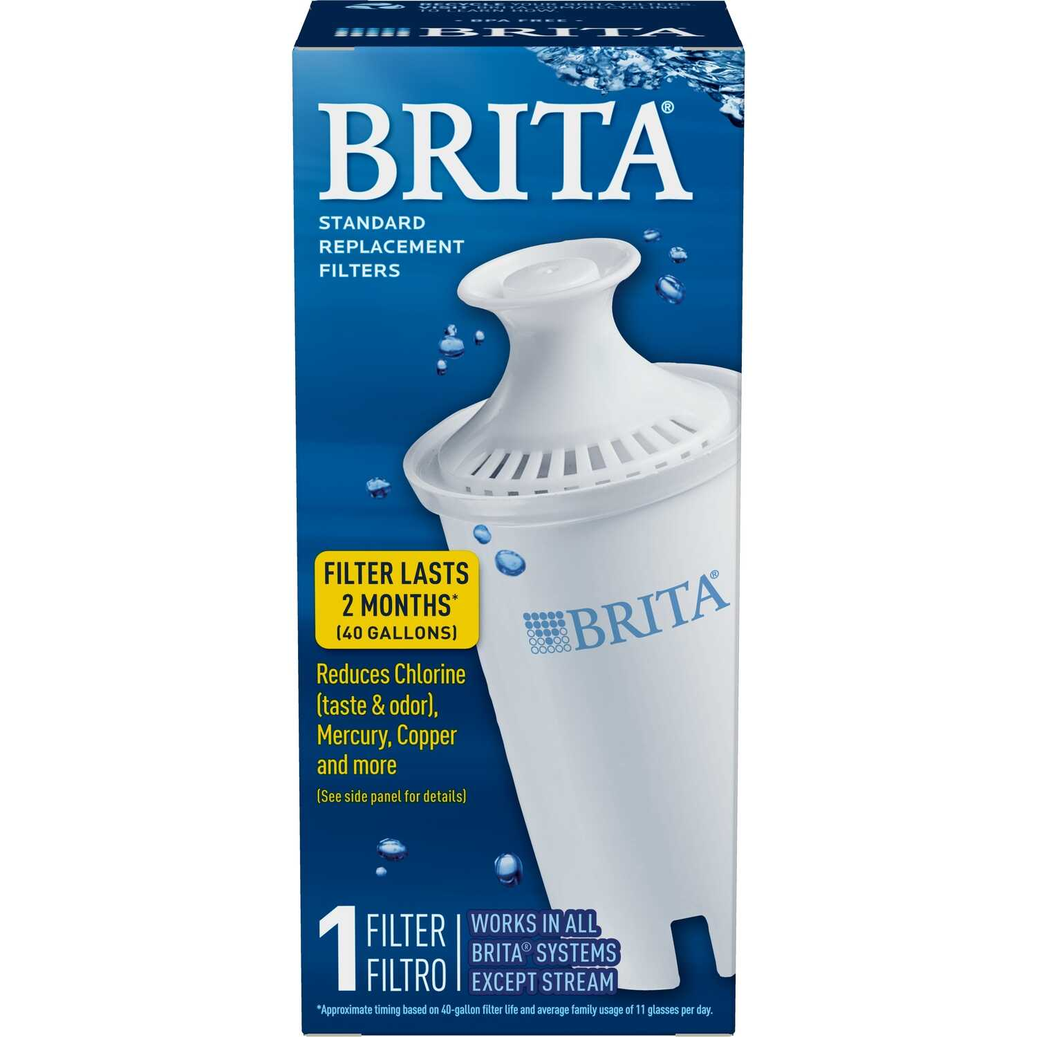 Brita  300 (16.9 oz.) Bottles  White  Replacement Pitcher Filter
