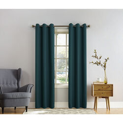 Sun Zero  Norwich  Green  Blackout Curtains  80 in. W x 84 in. L