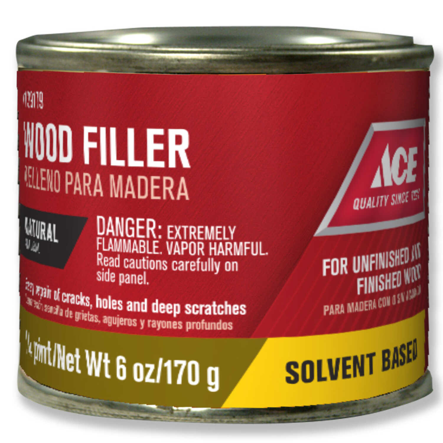 Ace  Natural  Wood Filler  6 oz.