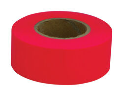 C.H. Hanson  150 ft. L x 1.2 in. W Polyvinyl  Flagging Tape  Fluorescent Red