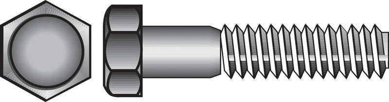 HILLMAN  3/8-16 in. Dia. x 2 in. L Stainless Steel  Hex Head Cap Screw  50 pk