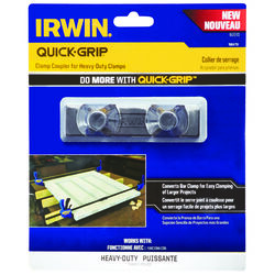 Irwin  Quick-Grip  Plastic  Clamp Coupler  Black  1 pc.