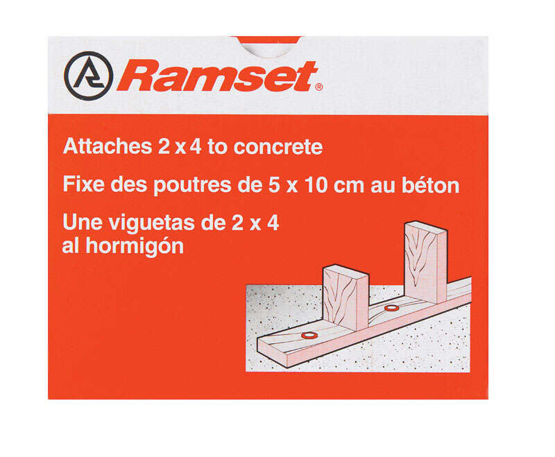 Ramset  .3 in. Dia. x 3 in. L Steel  Drive Pins  100 pk Round