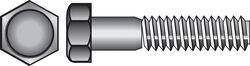 Hillman  1/2 in. Dia. x 5 in. L Hot Dipped Galvanized  Steel  Hex Bolt  25 pk
