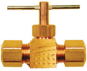 JMF  1/4 in.  x 1/4 in.  Brass  Needle Valve