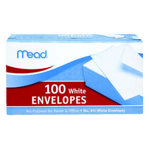 Mead  3.63 in. W x 6.75 in. L A6  Envelopes  100  White