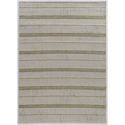 Linon Home Decor  6.5 ft. L x 9.5 ft. W Sand Green  Outdoor Rug