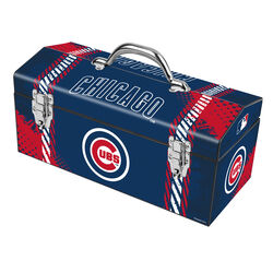 Windco  Chicago Cubs  16.25 in. Steel  MLB  Art Deco Tool Box  7.1 in. W x 7.75 in. H Blue/Red