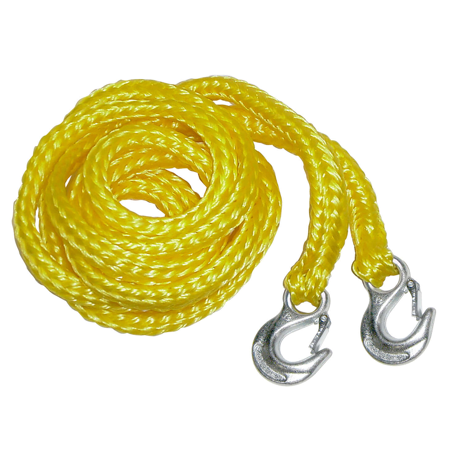 Keeper  13 in. L Yellow  Tow Rope with Hooks  1 pk
