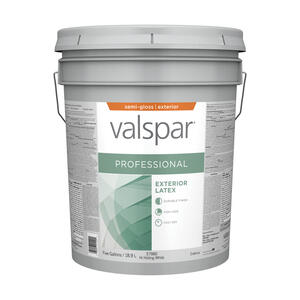 Valspar  Contractor Professional  Semi-Gloss  Basic White  Acrylic Latex  Paint  5 gal.