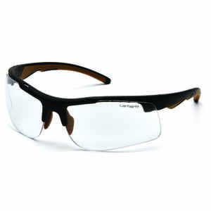 Carhartt  Rockwood  Anti-Fog Rockwood  Safety Glasses  Clear Lens Black Frame 1 pc.