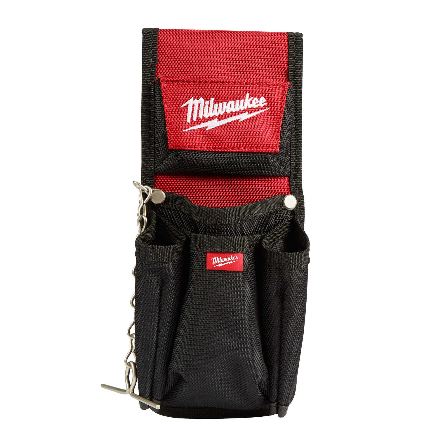 Milwaukee  5.9 in. W x 7.5 in. H Ballistic Nylon  Compact Utility Pouch  7 pocket Black/Red  1 pc.
