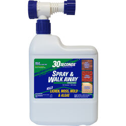 30 SECONDS  Spray & Walk Away  Lichen, Moss, Mold, Algae Killer  64 oz.