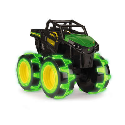 John Deere  Monster Treads  Lightning Wheels Gator Vehicle  Plastic  Black/Green