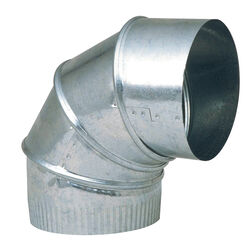 Imperial  6 in. Dia. x 6 in. Dia. Adjustable 90 deg. Galvanized Steel  Elbow Exhaust