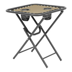 Living Accents Square Tan Bungee Side Table