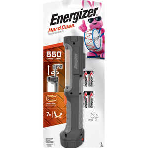 Energizer  HardCase  550 lumens Black  LED  Work Light Flashlight  AA