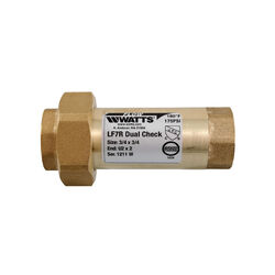 Watts  3/4  Dia. x 3/4  Dia. Brass  Double  Check Valve