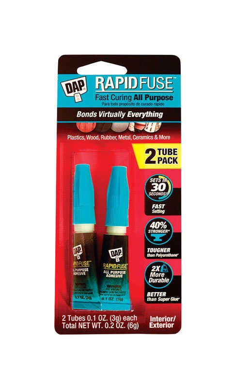 DAP  Rapid Fuse  High Strength  Glue  All Purpose Adhesive  2 pc.