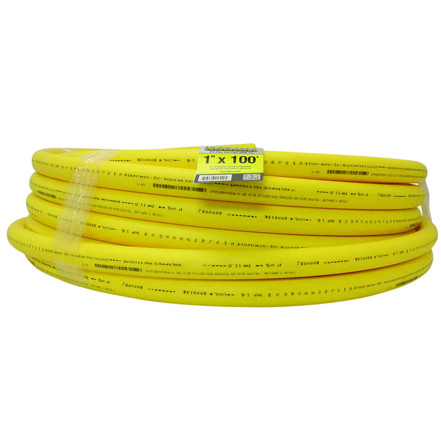 Home-Flex  Underground  1 in. Dia. x 100 ft. L Plain End  Poly Pipe Tubing  80 psi