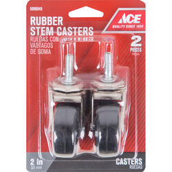 Ace 2 in. Dia. Swivel Hard Rubber Caster 80 lb. 2 pk