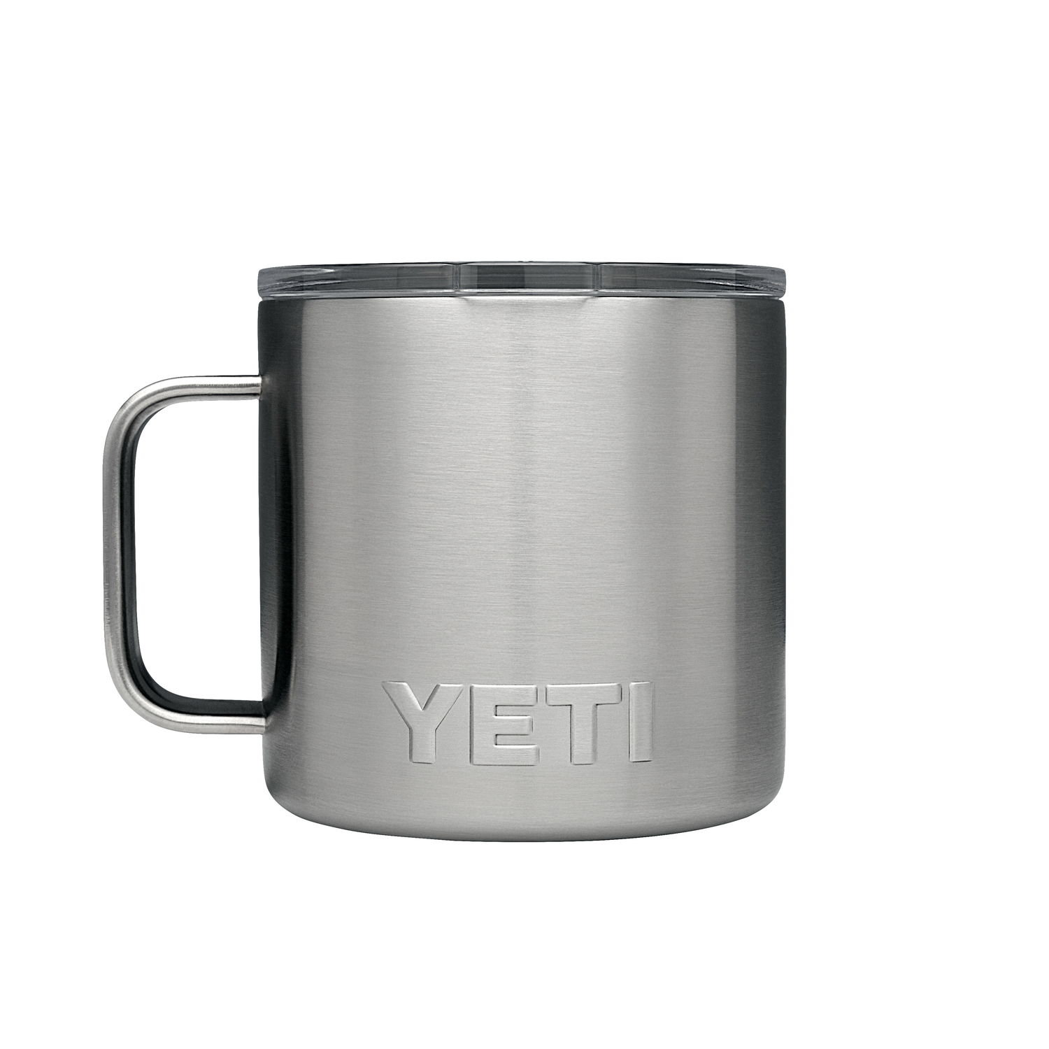 YETI  Rambler  Silver  Stainless Steel  Insulated Mug  14 oz. BPA Free