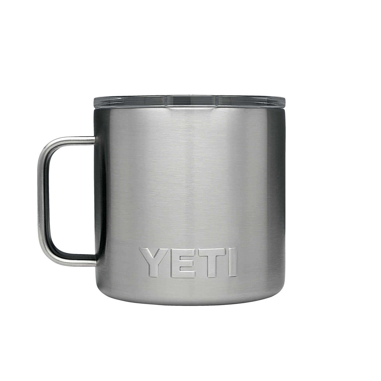 YETI  Rambler  Silver  Stainless Steel  Insulated Mug  BPA Free 14 oz.