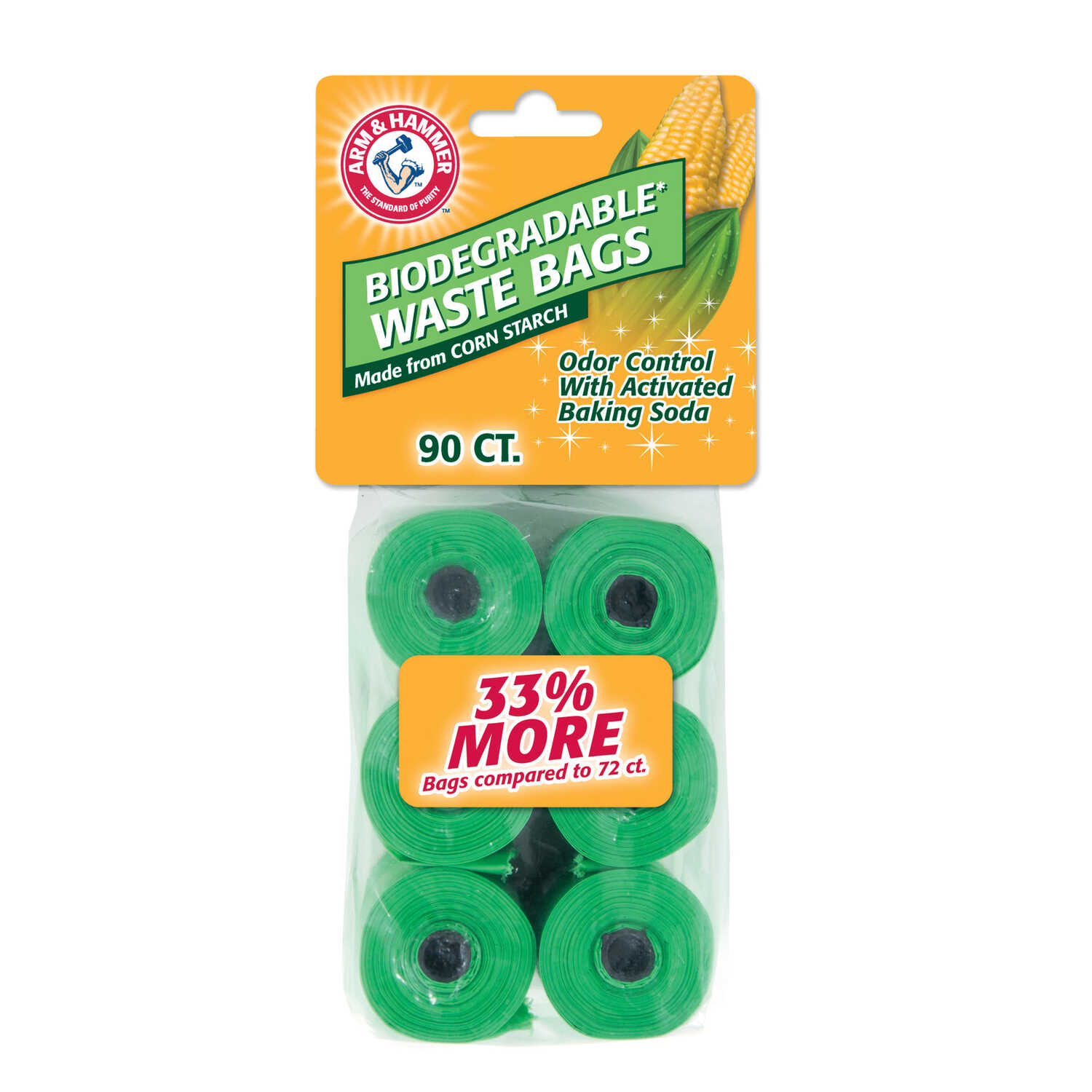 Arm & Hammer  Plastic  90  Biodegradable Waste Bags