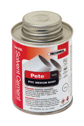 Rectorseal  Pete  Clear  Solvent Cement  For PVC 4 oz.