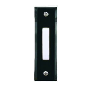 Heath Zenith  Black  Pushbutton Doorbell  Wired