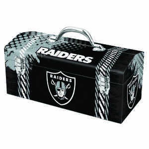 Windco  Steel  16.25 in. 7.1 in. W x 7.75 in. H Oakland Raiders  Art Deco Tool Box