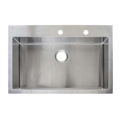 Franke  Stainless Steel  Dual Mount  33-7/16 in. W x 22-7/16 in. L Single Bowl  Kitchen Sink