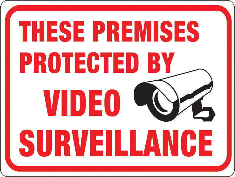 Hy-Ko  English  Protected by Video Surveillance  9 in. H x 12 in. W Plastic  Sign