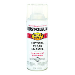Rust-Oleum Stops Rust Indoor and Outdoor Gloss Crystal Clear Rust Prevention Paint 12 oz.