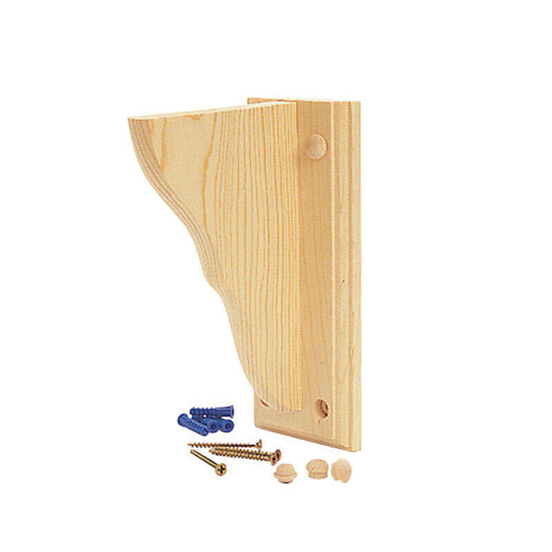 Waddell  Natural  Pine  Bracket  7.75 in. L