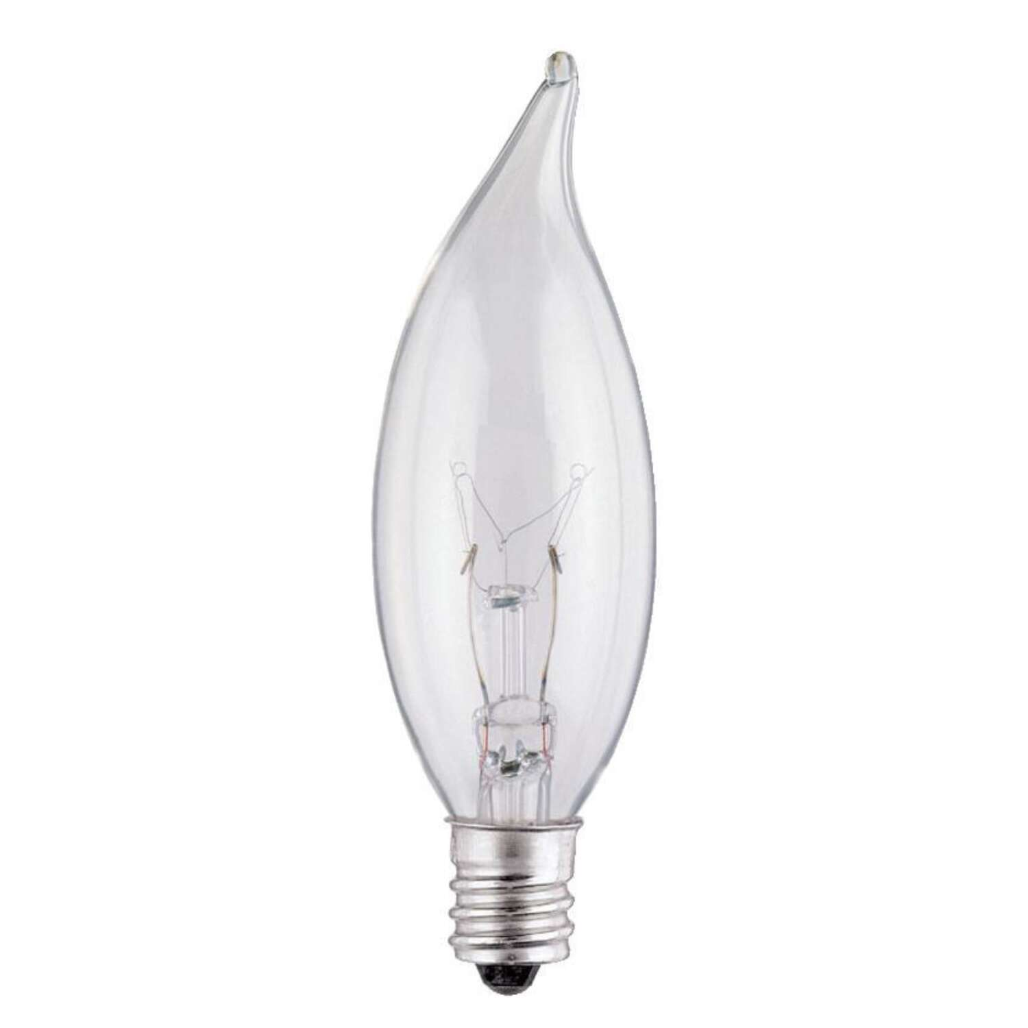 Westinghouse  15 watts E12  Incandescent Bulb  100 lumens Warm White  Decorative  2 pk