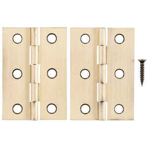 Ace  2-1/2 in. L Antique Brass  Brass  Broad Hinge  2 pk