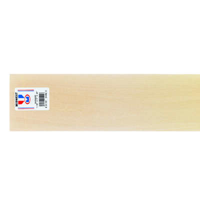 Midwest Products  4 in. W x 2 ft. L x 1/16 in.  Basswood  Sheet  #2/BTR Premium Grade